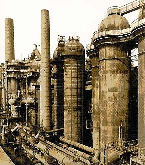 Voelklingen Ironworks plant outlook in the beginning of 20th century